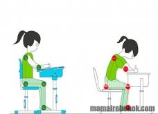 Как ребенок должен сидеть за партой?